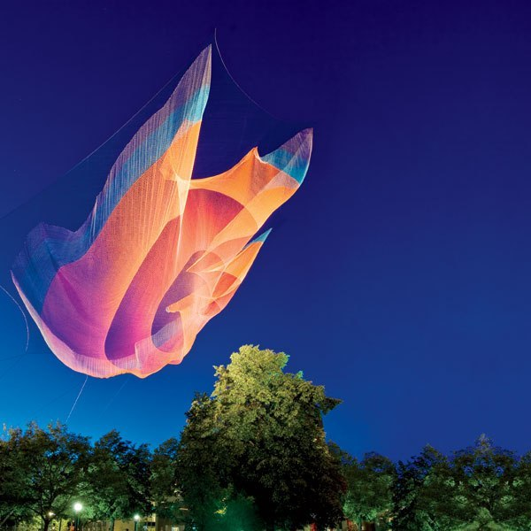 Meet our 2012 AD Innovators: Janet Echelman is changing the very essence of urban spaces with her billowing public artworks. Click here to see more of her work.