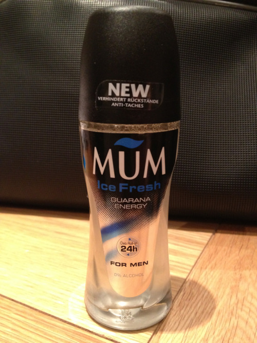 Mum… For Men. I found this in my toilet bag while trying to get organised to go on holiday! I'd run out of deodorant and bought this in a pharmacy in Monte Carlo.
