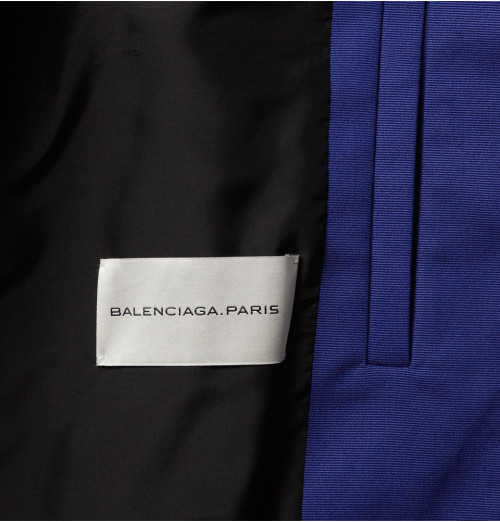 asthetiques:  BALENCIAGA - COTTON-BLEND BOMBER BLUE JACKET.