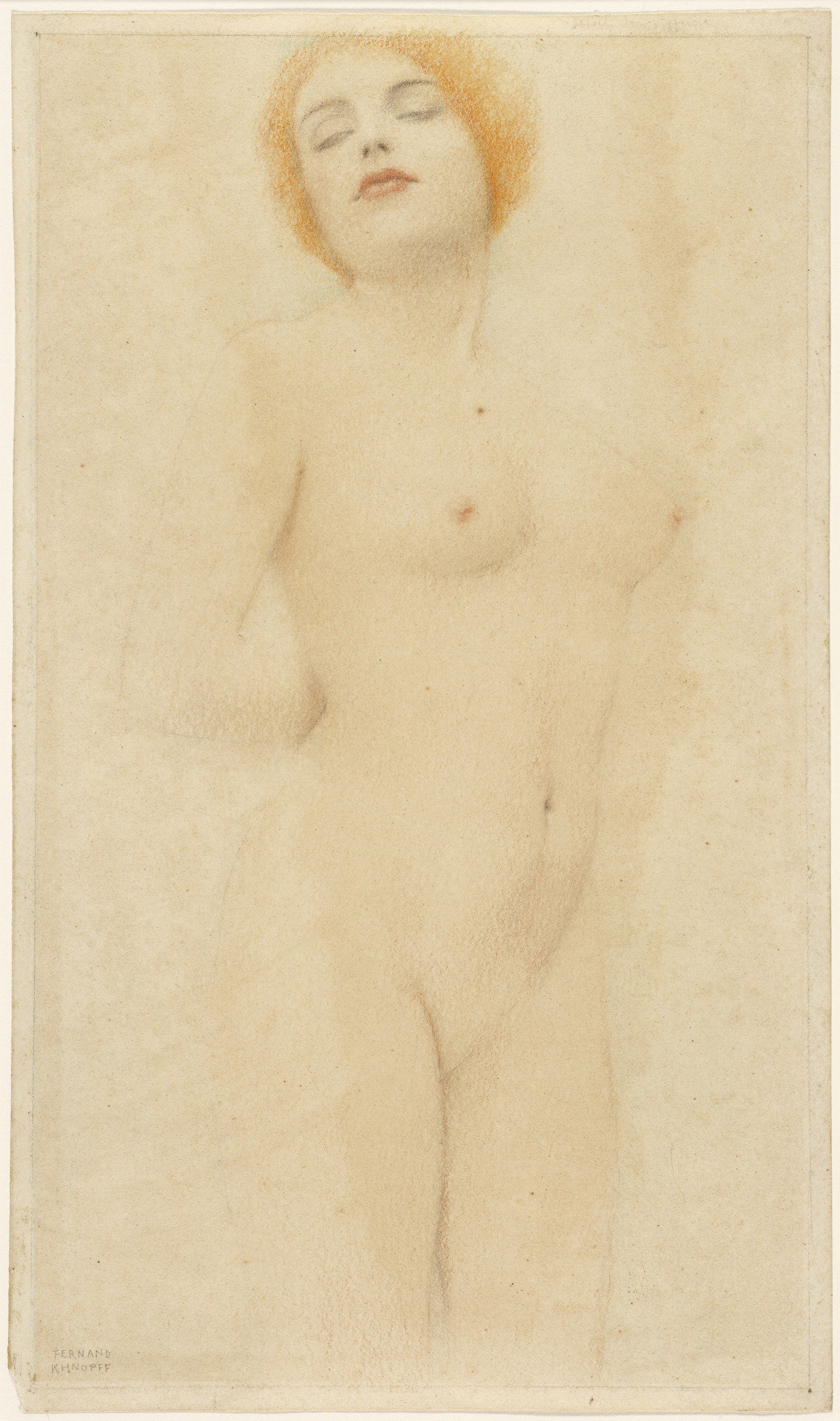Study of a Nude, about 1912, Fernand Khnopff. Lent by Eva and Brian Sweeney.