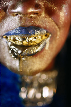 Marilyn Minter's 'Gold Mouth' series feat. Wangechi Mutu