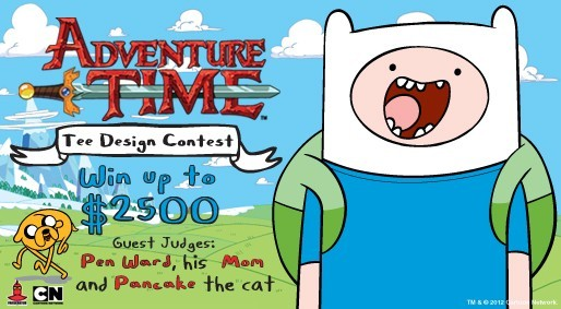 welovefineshirts:  ONE MORE WEEK to enter designs in our Adventure Time Tee Design Contest! Deadline is Tuesday, August 28th; we have OMG totally mathematical designs already, but there's room for more so keep 'em coming everyone! We can't WAIT to see all the entries!  Your fan art could be on a t-shirt! How cool is that?