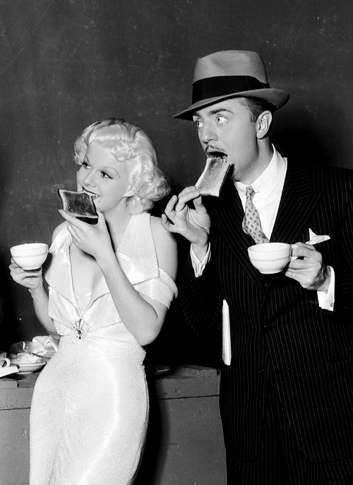 orsons:  Jean Harlow and William Powell on the set of Reckless, 1935