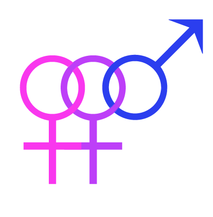 asexualxbisexual:  Bisexual Female Symbol by Jon-Boys