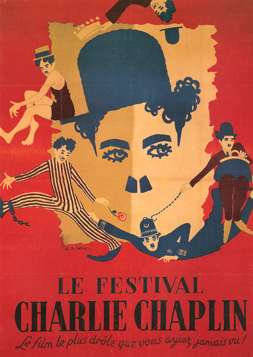 French Poster depicting Charlie Chaplin's Mutual Short Films - 1916/1917