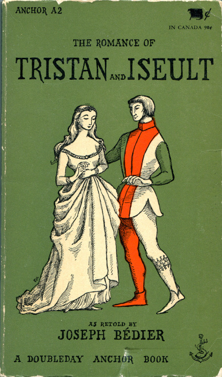 """The Romance of Tristan and Iseult"" as retold by Joseph Bédier (1955) cover illustrated by Edward Gorey via fairytalemood"