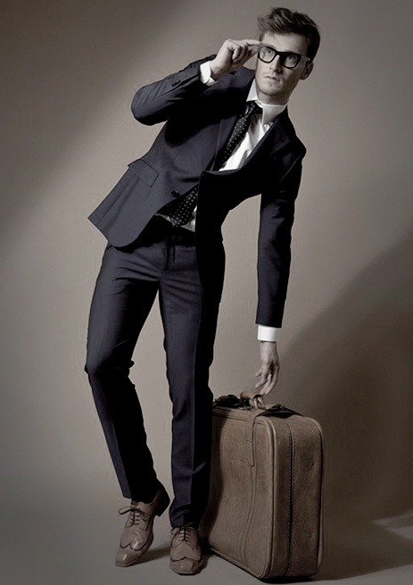 suit and luggage