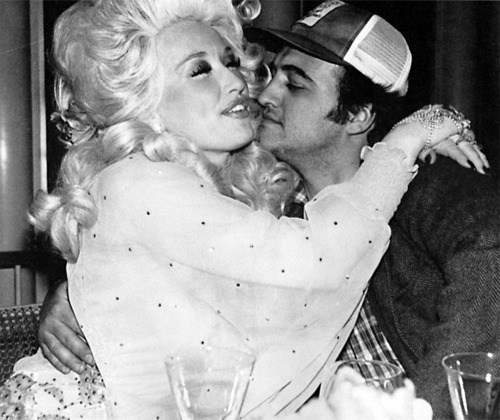 Dolly Patron and John Belushi