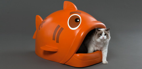 thedailywhat:  Giant Fish Litter Box of the Day: For the cat that has (almost) everything, especially if you already bought it a frikkin' tunnel couch. Pre-orders for Litterfish are open now. [laughingsquid]