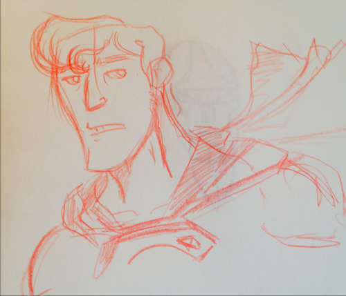 Silly quick Superman sketch. I wasn't sure what I was sketching honestly. I'm trying to get back into the habit of sketching to try and develop my traditional skills versus just working in Adobe Illustrator all the time.