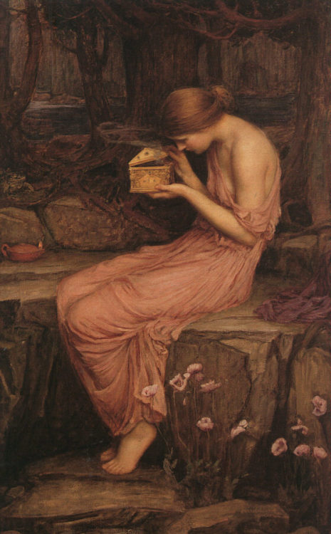 "John William Waterhouse ""Psyche Opening the Golden Box"""