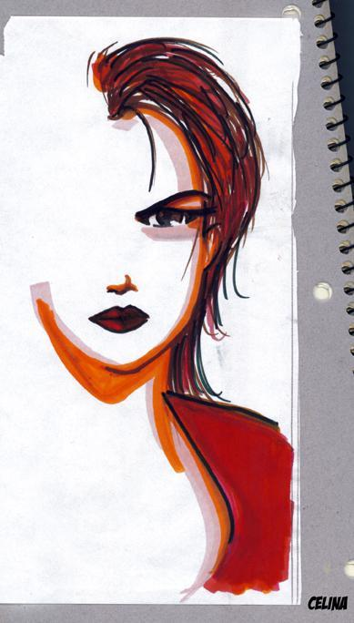 Woman and Fancy Markers. by ~ChibiCelina