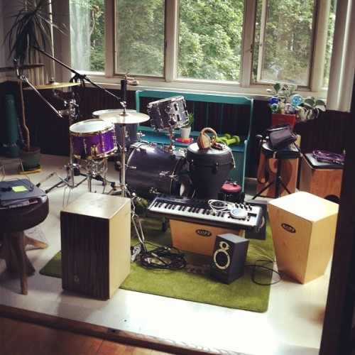 Getting things organized in here. #drums  #music @jenningsphoto (Taken with Instagram at playcajon.org HQ)