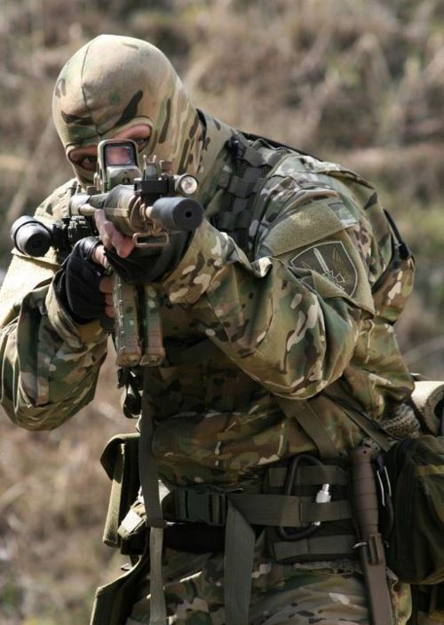 militaryandweapons:  This guy looks like he can take care of business…..  agreed