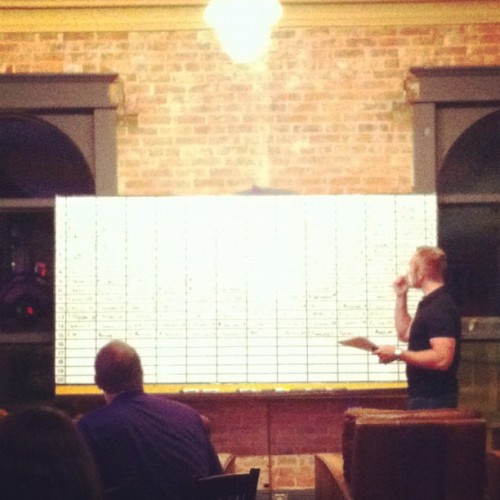 Fantasy Foosball Draft. Go, TEAM! (Taken with Instagram at JT Walker's)