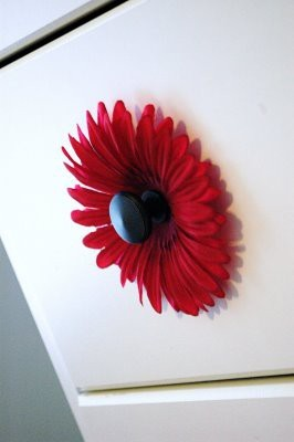 Add a flower to your bureau knobs