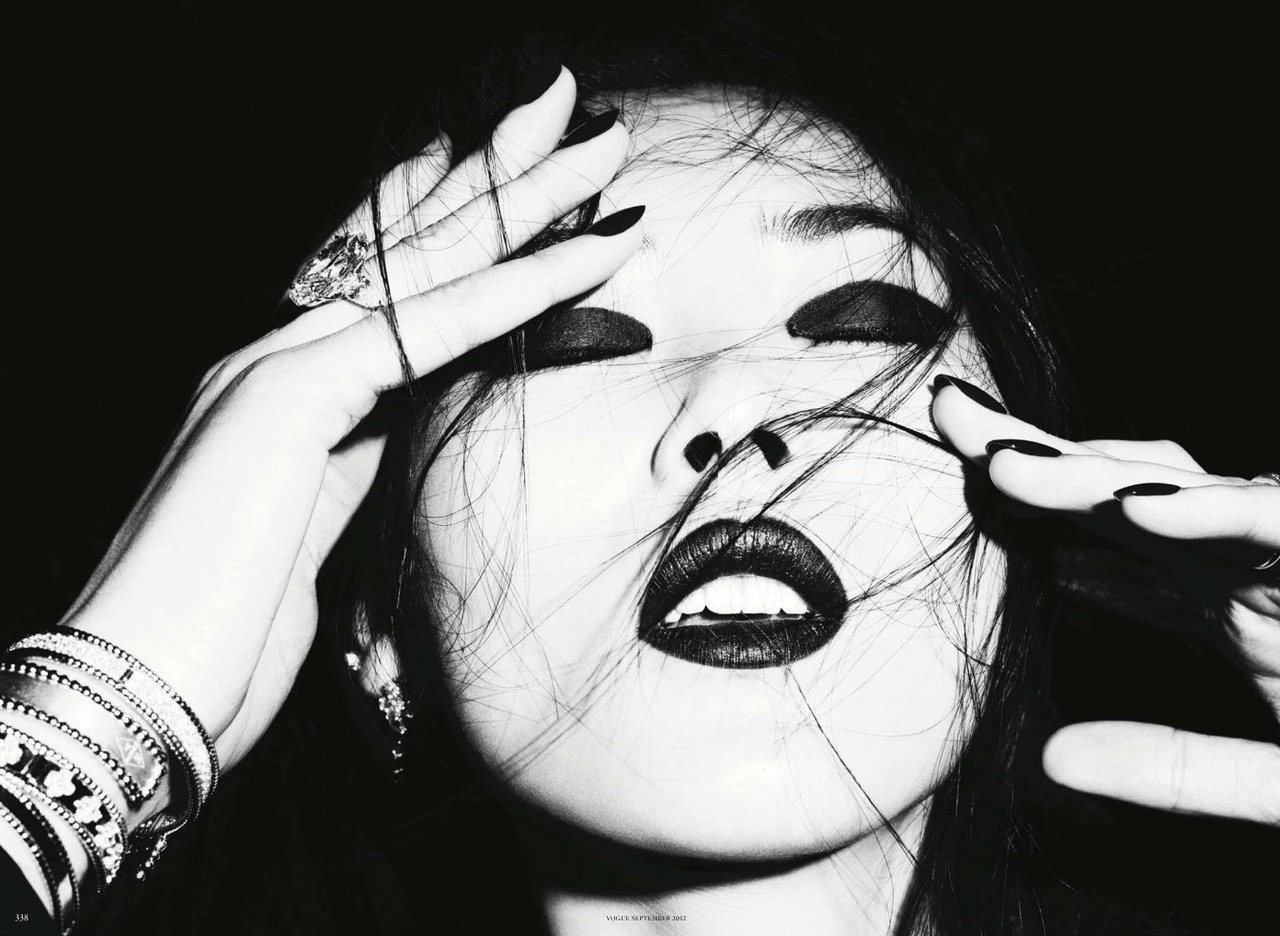 Liu Wen: Dark Mystery - Vogue Germany by Ben Hassett, September 2012
