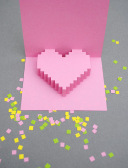 http://www.minieco.co.uk/valentines-day-pixely-popup-card/  awesome paper art. will try it one day !