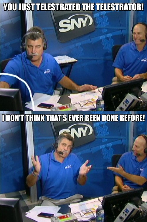 gsorensen:  Keith and Gary in the SNY broadcast booth.