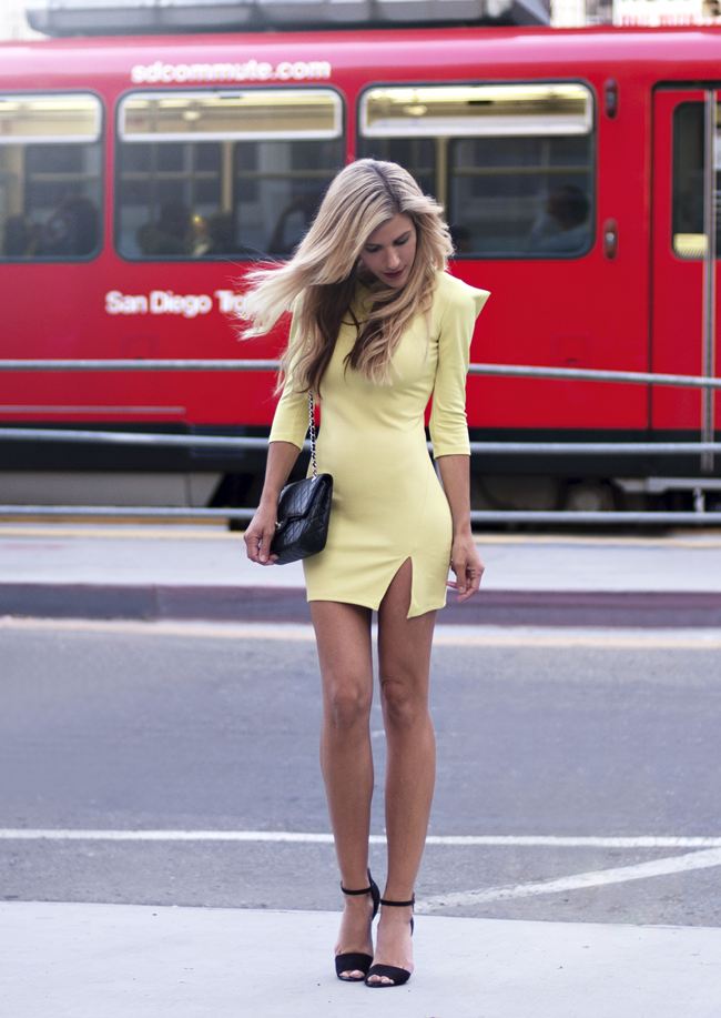 Dress - Joa + Closet, Vintage Bag - Chanel, Heels - Zara (image: thenativefox)