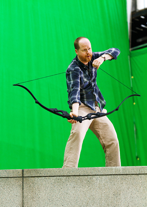Joss Whedon on the set of The Avengers (2012)