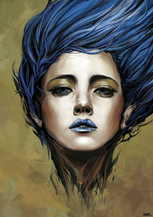 "theartfulfemme:  ""Blue Spirit"" by OakKs"