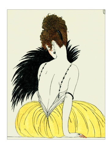 thefastestmochi:  Woman with a Fan - George Barbier, one of my favorite illustrators/artists