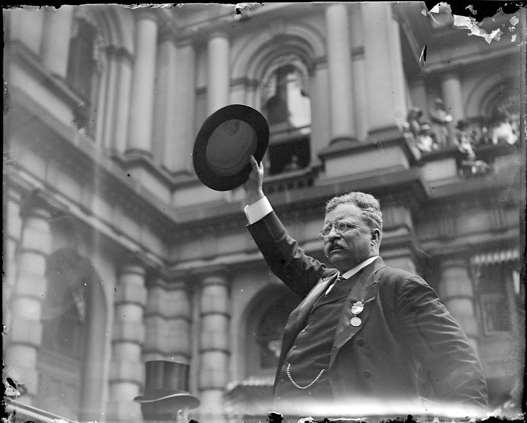 collectivehistory:  Theodore Roosevelt in Boston, 1912