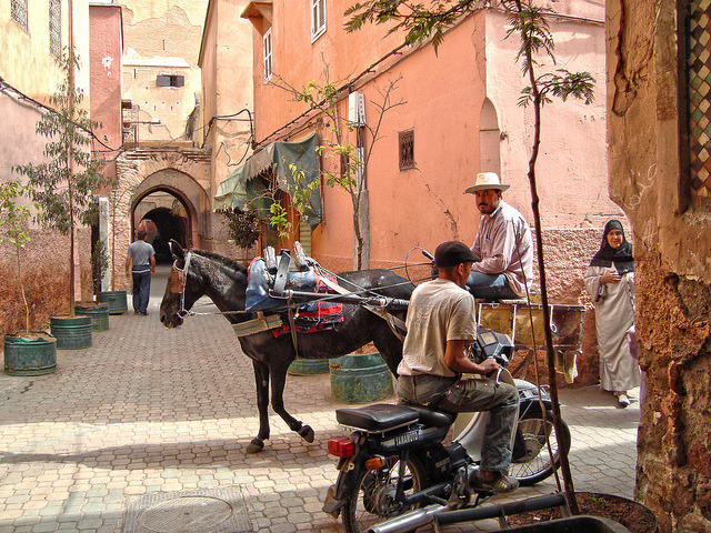 | ♕ |  Medina - WHS town in Marrakech, Morocco  | by © Ferry Vermeer