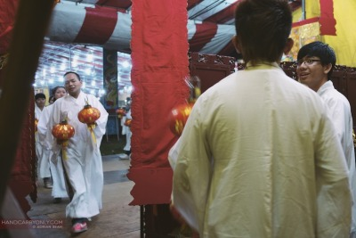 Backstage at the Hungry Ghost Festival by Adrian Seah | Singapore, 2012 Fuji X-Pro1, XF 18mm f2