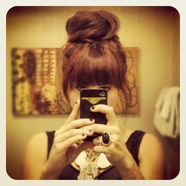 Monster top knot for the #levis dinner. (Taken with Instagram)