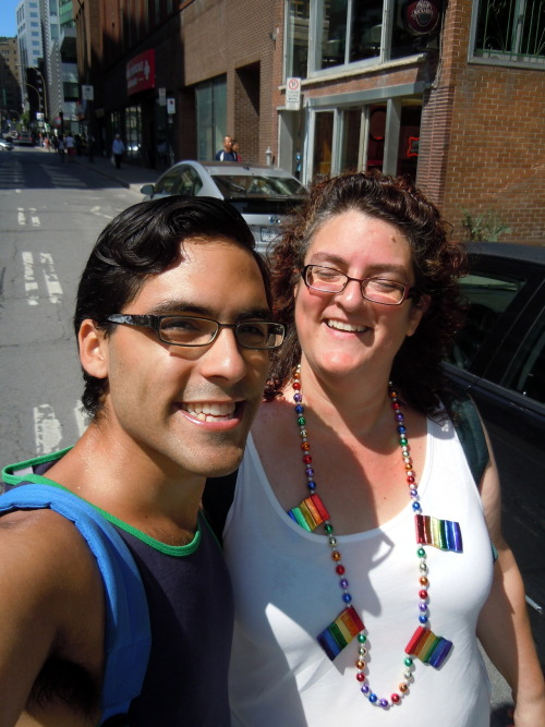 Me and my beautiful mother heading to the Montreal Pride Parade :') <3 Luckiest gay son on earth!