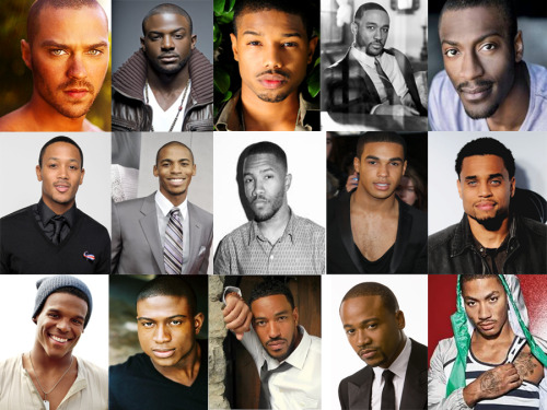 Jesse Williams, Lance Gross, Michael B. Jordan, Lee Thompson Young, Aldis Hodge, Romeo Miller, Mehcad Brooks, Frank Ocean, Lucien Laviscount, Michael Ealy, Cam Newton, Sinqua Walls, Laz Alonzo, Columbus Short, Derrick Rose  You can only choose three….
