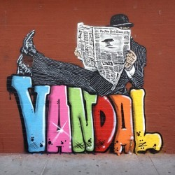 Cool new street piece by @apishangel #nickwalker #streetart #vandal #nyc #nytimes #spraypaint #stencil (Taken with Instagram)