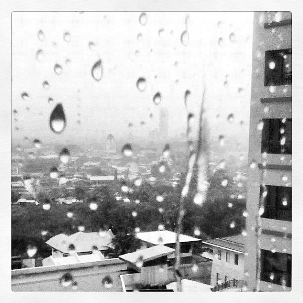 #raindrops #blackandwhite (Taken with Instagram)
