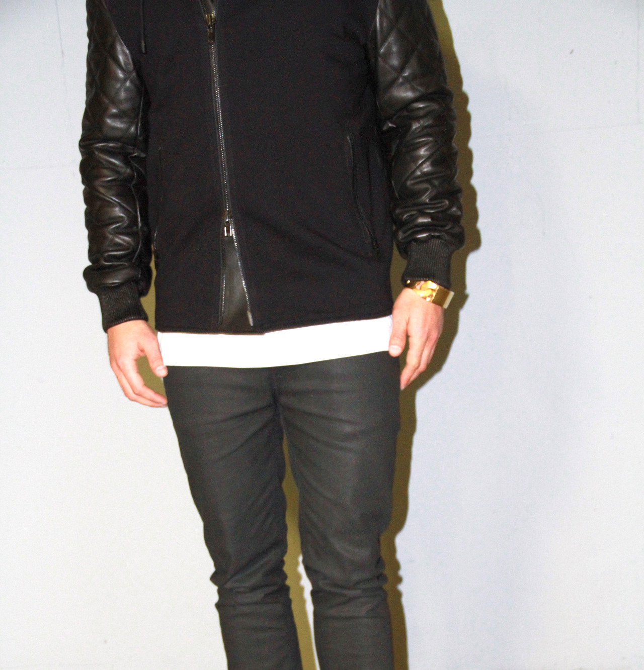 ASTHETIQUES BOUTIQUE GIVENCHY - QUILTED LEATHER BOMBER JACKET. NUDIE ...