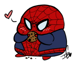 "squidbiscuit:  Anyone else buy one of those cute as hell Spidey-ball things? I think it's some kinda Beanie Babies deal or something but he's almost freakin' MODOC and I find that hilarious. Lookin' down at the camera so that's why my hair is ""comin' at ya"".Also the cat loves this thing for some reason, she's been swatting it all over the floor.  Omg that art is perf. I HAVE THE GIGANTIC ONE. He was a gift in Vegas for my birthday and he was my plane carry-on. He's in my lap right now. HE IS MY TUMBLR BUDDY. ARE THESE NOT THE BEST THINGS IN THE WORLD?!"