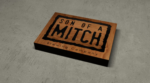 Son of a Mitch sign pre-cut (quick) rendering.