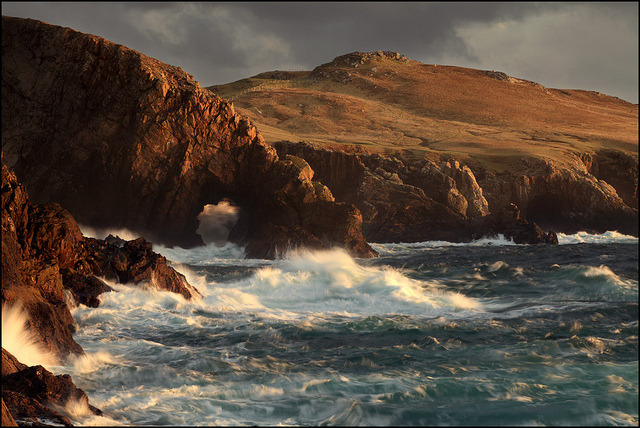 Sea Arch Strathy Point by angus clyne on Flickr.