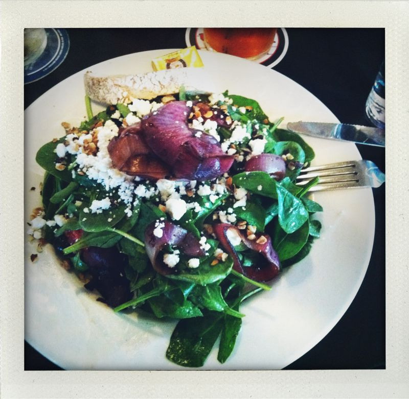 spinach and mixed berry salad bridgeport. i don't usually like their food but this was very good.
