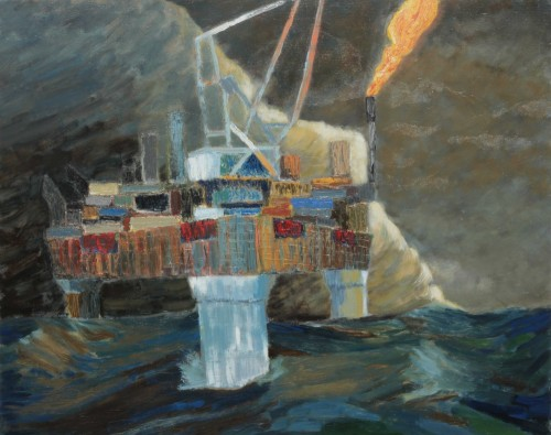 Edwin Gardiner Oil Platform(re-worked version) oil on linen 153 x 122 cm 2012 www.edwinart.com