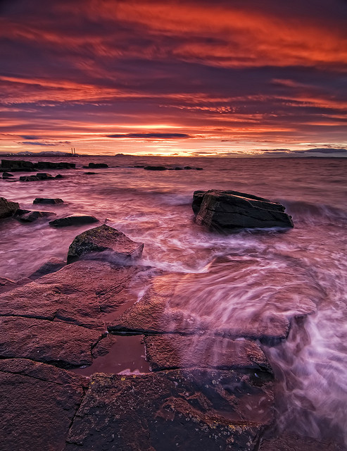 Longniddry Red Sky by Graham Stirling on Flickr.