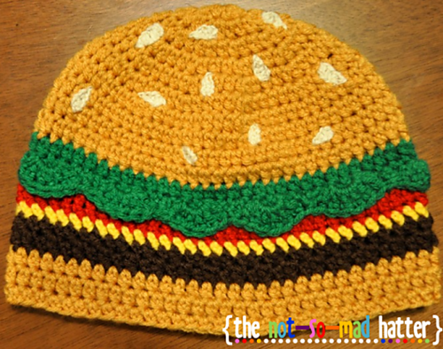 Oh my god, it's a cheeseburger hat.