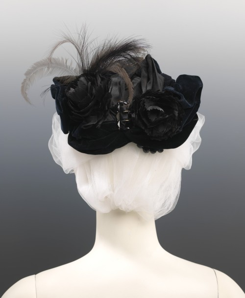 Evening hat ca. 1885 From the Metropolitan Museum of Art