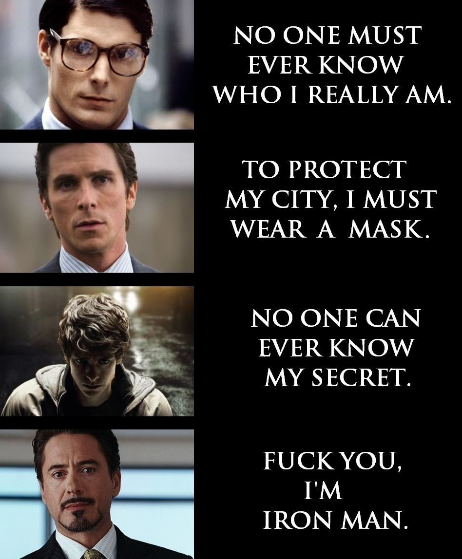 "thefandomzone:  ""FUCK YOU, I'M IRON MAN."""