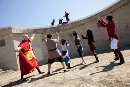 How Amon was really defeated. Just havin fun during our photoshoot. Tenzin - Erik Bolin - http://dksquall.deviantart.com/ Korra - Aura Mako - http://melukestacosplay.deviantart.com/ Asami - http://the-sushi-monster.deviantart.com/ Iroh - http://socophdpepper.deviantart.com/ Amon - http://missdang.deviantart.com/ Sato - Hai  Photographer - Max Song