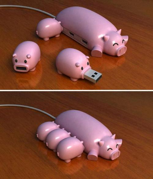 turbotoad:  peterfromtexas:  Best USB hub ever  XD