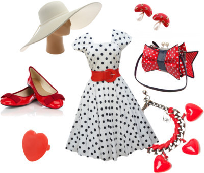 It's Just A Picnic by coreytess featuring plastic jewelryDaisy dress$71 - lovemissdaisy.comOasis shoes$55 - oasis-stores.comIrregular Choice polka dot handbagirregularchoice.comVenessa Arizaga heart jewelrykirnazabete.comMiso plastic jewelry$4.71 - republic.co.ukChanel jewelryfashion.1stdibs.comSan Diego Hat Co straw sun hatzappos.com