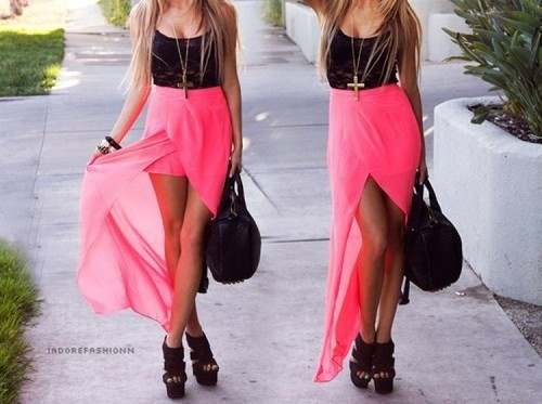 tumblr_m95fgoDPEB1ruxmrlo1_500 High Low Skirt Outfits - 19 Best Ways To Style Hi-Low Skirts