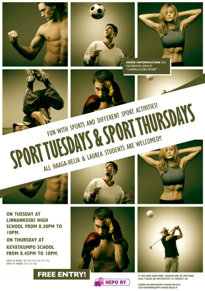Sports Tuesdays + Thursdays, Porvoon Campus 2012